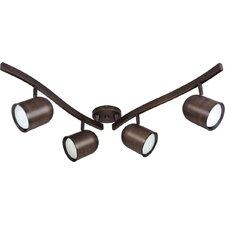 4 Light R30 Swivel Track Light Kit