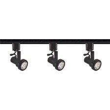 3 Light Line Voltage Gimbal Ring Track Light Kit