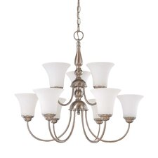 <strong>Nuvo Lighting</strong> Dupont 9 Light Chandelier