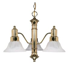 <strong>Nuvo Lighting</strong> Gotham 3 Light Chandelier