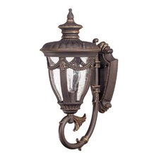 <strong>Nuvo Lighting</strong> Philippe 1 Light Small Arm Up Wall Lantern