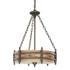 Prescott 3 Light Drum Pendant