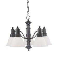 <strong>Nuvo Lighting</strong> Gotham 5 Light Chandelier