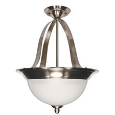 <strong>Nuvo Lighting</strong> Palladium Inverted Pendant