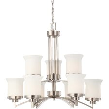 <strong>Nuvo Lighting</strong> Harmony 9 Light Chandelier