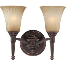 <strong>Nuvo Lighting</strong> Franklin 2 Light Bath Vanity Light