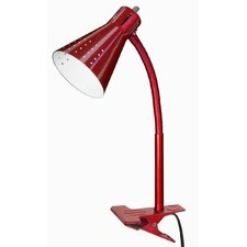"Goose Neck Clip-On 13"" H Table Lamp with Empire Shade"