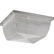 Compact Fluorescent 1 Light Outdoor Wall Fixture / Flush