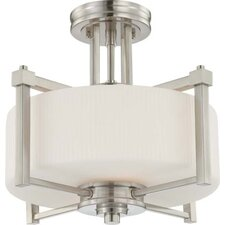 Wright 2 Light Semi Flush Mount