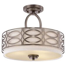 Harlow 3 Light Semi Flush Mount
