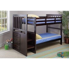 Collin II Twin Over Twin Standard Bunk Bed with Storage Drawer