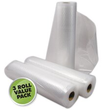 "8"" x 11' Vacuum Sealer Roll (Set of 3)"