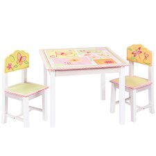 Gleeful Bugs Kids 3 Piece Rectangle Table and Chair Set