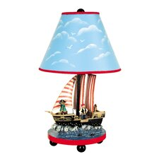 "Pirate 3-D 18"" H Table Lamp with Empire Shade"