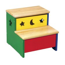 Moon and Stars 2-Step Storage Step Stool