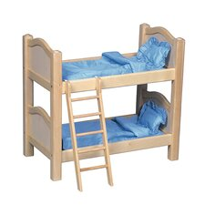 Doll Bunk Bed in Natural