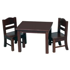 <strong>Guidecraft</strong> Doll Table and Chair Set in Espresso