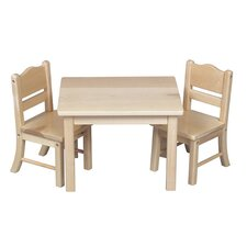 <strong>Guidecraft</strong> Doll Table and Chair Set in Natural