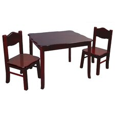 Classic Kids 3 Piece Table and Chairs Set