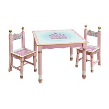 <strong>Guidecraft</strong> Princess Kids' 3 Piece Table and Chair Set