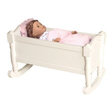 Doll Cradle in White