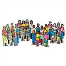 Multi-Cultural Family Figures Kit (Set of 24)