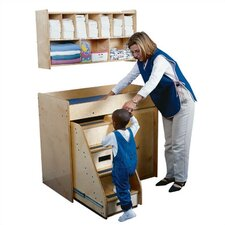 <strong>Guidecraft</strong> Diaper Shack Changing Table Shelf Unit