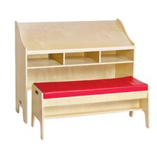 "<strong>Guidecraft</strong> Classroom Furniture 42"" W Desk with Bench"