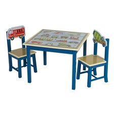 <strong>Guidecraft</strong> Moving All Around Kids 3 Piece Table and Chair Set