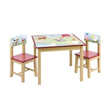 <strong>Guidecraft</strong> Farm Friends Kids 3 Piece Table and Chair Set