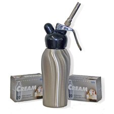 Dessert Chef 1 Pint Cream Whipper in Brushed Stainless Steel