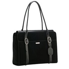 <strong>Coakley</strong> Signature Suede Everyday Laptop Zipper Portfolio Tote Bag
