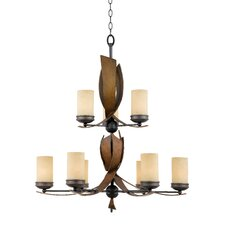 Recycled Aizen 9 Light Chandelier