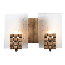 Dreamweaver Recycled 2 Light Bath Vanity Light