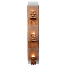 Dreamweaver 3 Light Vertical Recycled Wall Sconce