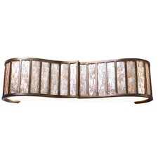 Affinity Sustainable Shell 3 Light Bath Vanity Light