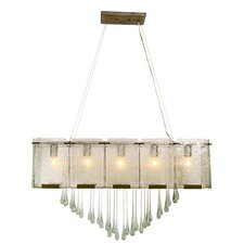 Rain Drops 5 Light Linear Pendant