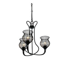 Encaged 3 Light Mini Chandelier