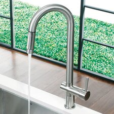 <strong>Vigo</strong> Savona One Handle Single Hole Pull Out Kitchen Faucet