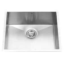 "23"" x 18"" Undermount Single Bowl Kitchen Sink"