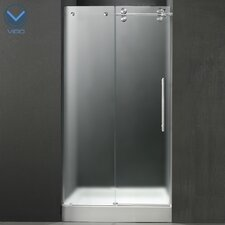 "59.75"" W x 74"" H x 30"" D Sliding Shower Door with Right Side Opening"