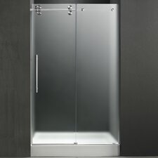 "47.75"" W x 74"" H x 32"" D Frosted Sliding Shower Door with Left Side Opening"