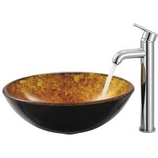 Single Hole Vessel Seville Faucet with Single Handle