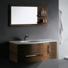 "Distinct 44"" Single Bathroom Vanity Set with Mirror"