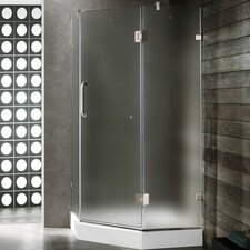 Neo-Angle Door Frameless Clear Shower Enclosure with Base