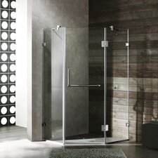 Neo-Angle Door Frameless Clear Shower Enclosure with Handle Bar