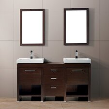 "Adonia 59.5"" Double Bathroom Vanity Set"