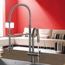 Single Handle Single Hole Pot Filler Kitchen Faucet with Pull-Down Spray