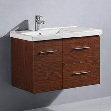 "<strong>Vigo</strong> Moderna Trio 31.25"" Single Bathroom Vanity Set"