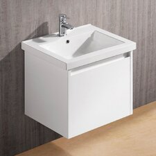 "<strong>Vigo</strong> Bianca 23.5"" Single Bathroom Vanity Set"